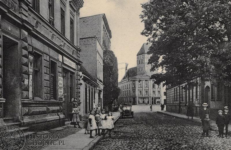 Widok z ul. Młyńskiej w kierunku rynku. Ok. 1915 r.