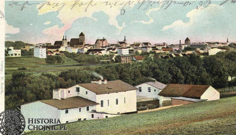 Widok na miasto od strony ul. Strzeleckiej. Początek XX w.