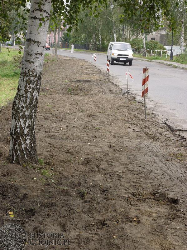 Prace związane z modernizacją drugiego etapu ulicy Brzozowej.