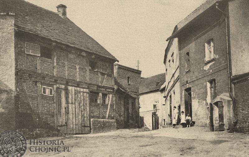 Nieistniejący zakątek ul. Pocztowej. Ok. 1918/19.