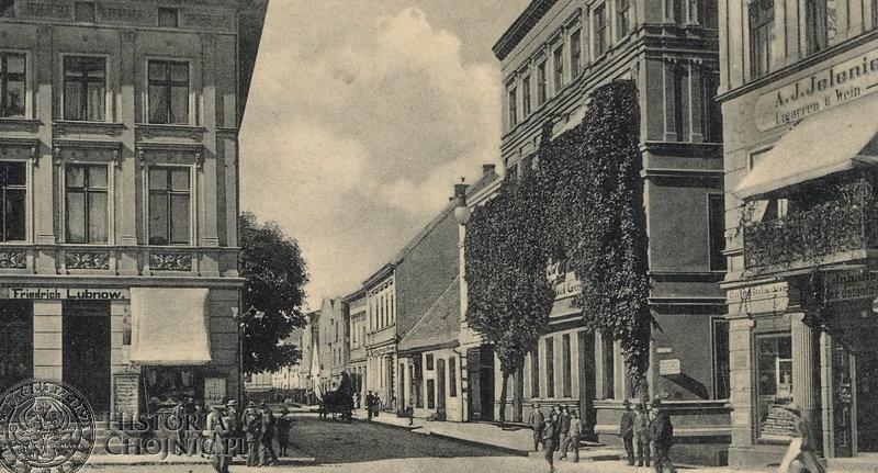 Widok z rynku na ulicę Młyńską. Początek XX w.