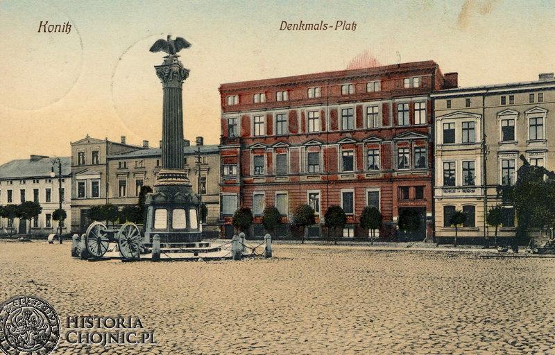 Pomnik w hołdzie poległym chojniczanom w wojnie prusko - francuskiej. Ok. 1905 r.