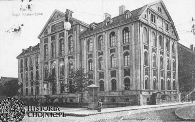 Budynek szkoły miejskiej, obecnie SP nr 1.