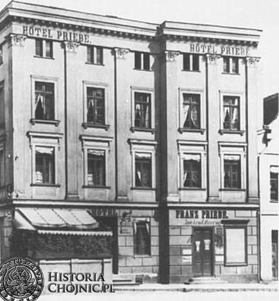 Hotel Priebe przy rynku. Ok. 1905 r.