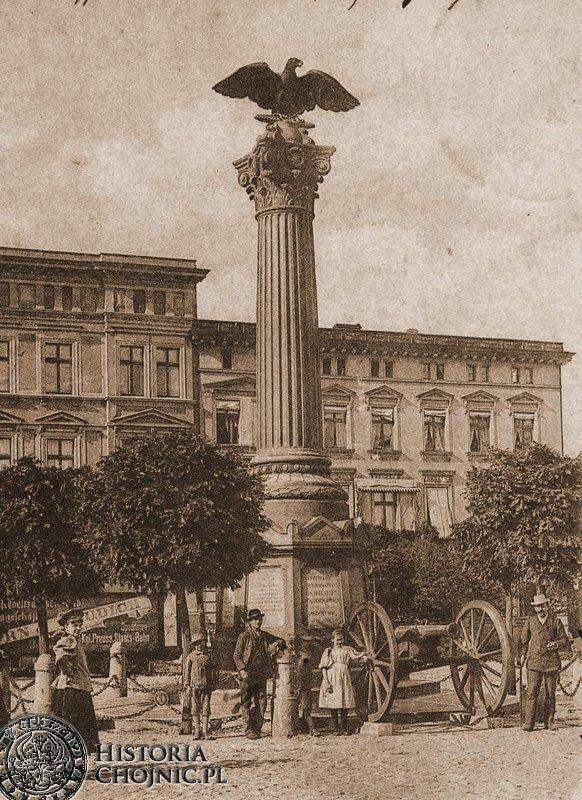 Pomnik ku czci poległych chojniczan w fonie prusko - francuskiej.