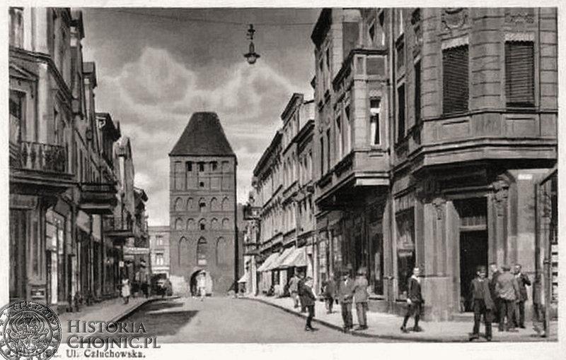 Widok na Bramę Człuchowską. Ok. 1939 r.