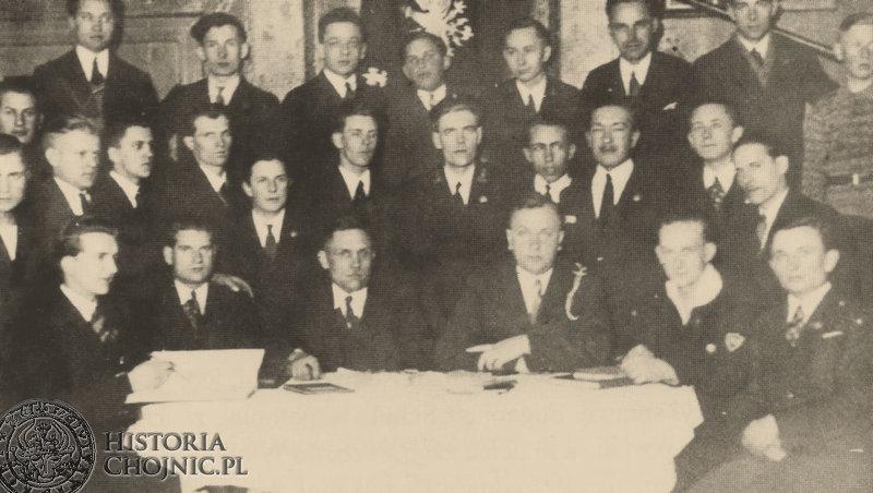 Zbiórka sprawozdawcza Pomorskiej Harcerskiej Drużyny Żeglarskiej im. Mestwina II. Ok. 1935 r.