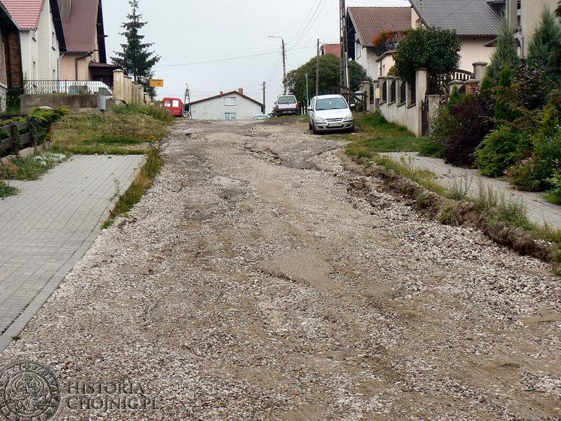 Ulica Wycecha przed modernizacją.