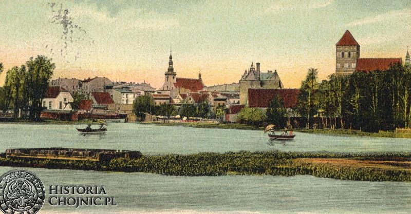 Widok na miasto od strony Jeziora Zakonnego. Początek XX w.