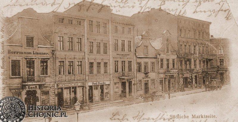Kamienice przy rynku. Ok 1905 r.