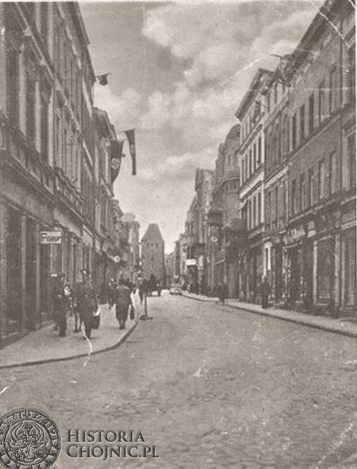 Widok dawnej ul. Gdańskiej. Ok 1942 r.