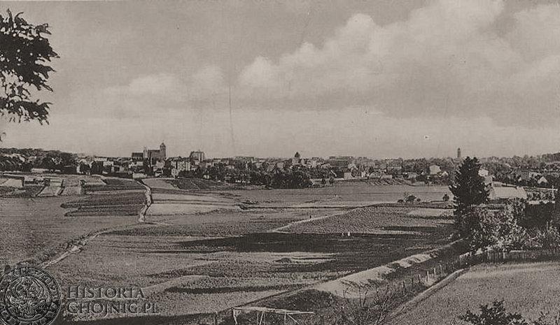 Widok na Chojnice. Ok 1915 r.