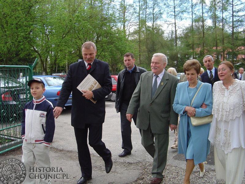 Lech Wałęsa był gosciem Kliniki w Krojantach.