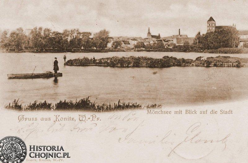 Widok na miasto od strony Jeziora Zakonnego. Poczatek XX w.