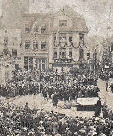 Uroczystość na rynku z okazji odwiedzin prezydenta. Sierpień 1924 r.