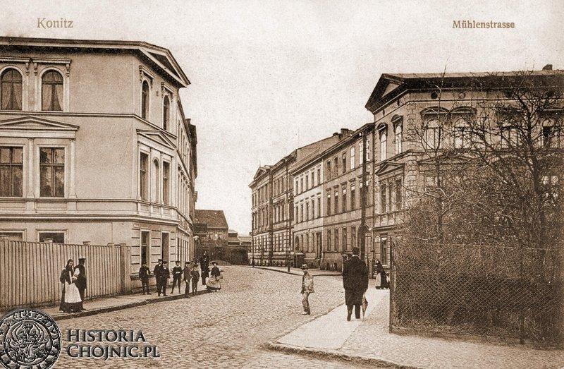 Ul. Młynska wraz z zabudową. Ok. 1900 r.