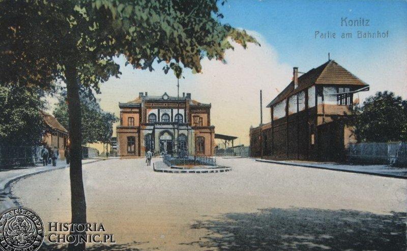 Dworzec kolejowy. Ok 1908 r.
