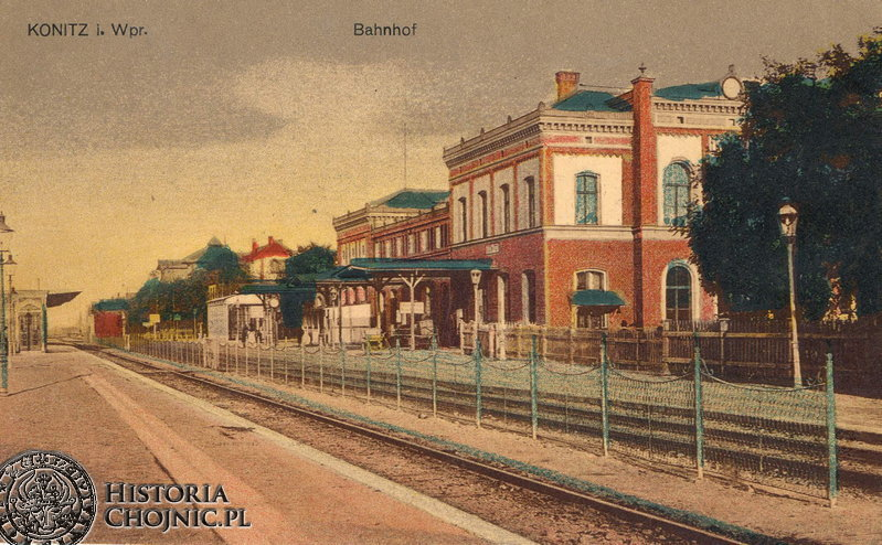 Dworzec. Ok 1912 r.