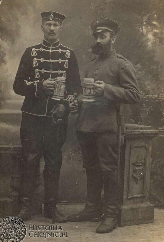 Zdjęcie wykonane w Chojnicach. Początek XX w.