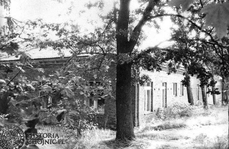 Żeński pawilon w szpitalu płucnym w Lasku Miejskim.