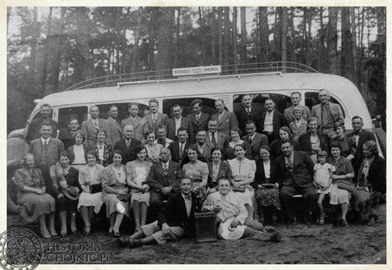 Autobus kursujący na trasie Chojnice - Bydgoszcz. 1938 r.