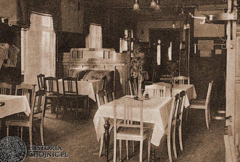 Sala restauracyjna w hotelu Priebe.