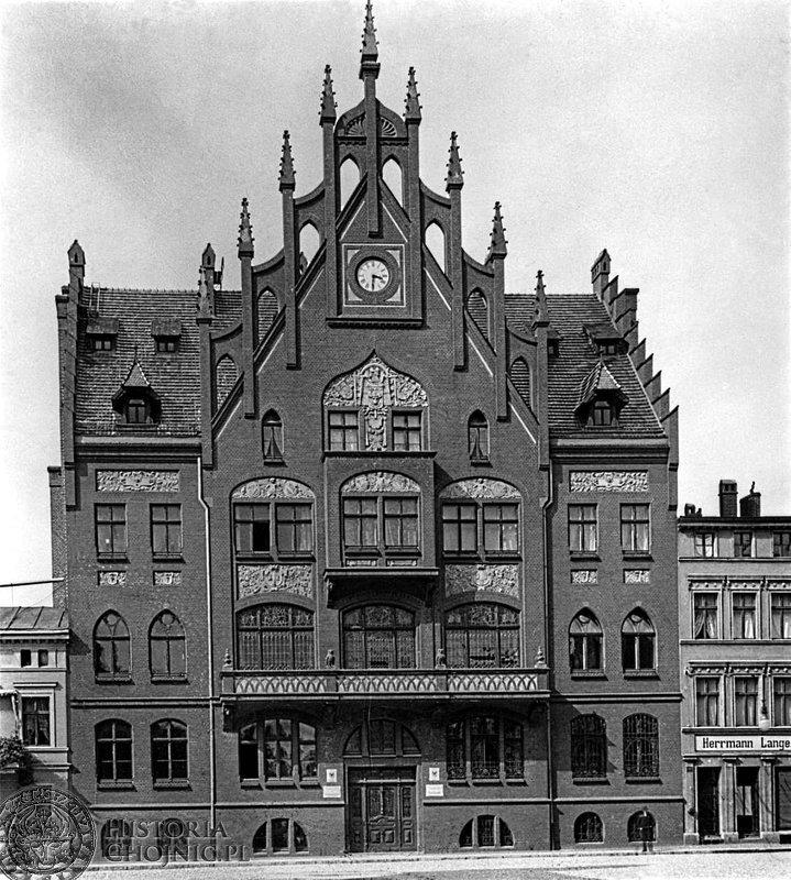 Ratusz w Chojnicach. Ok. 1918 r.