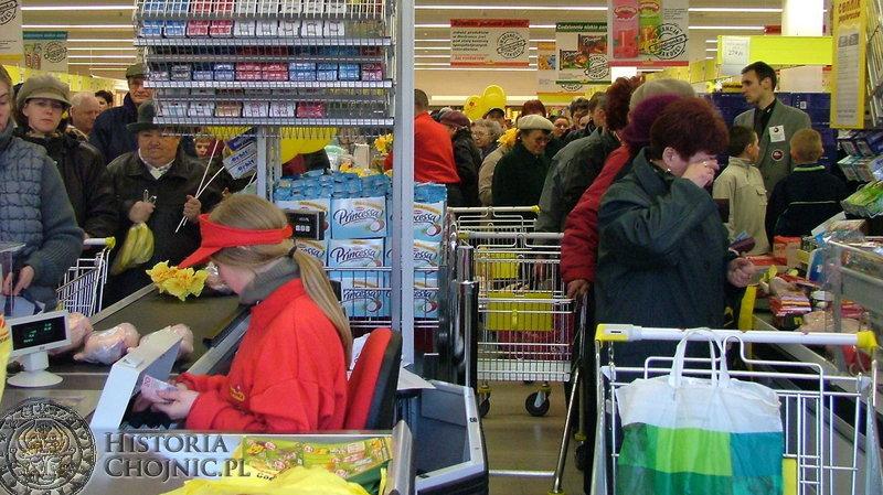 Markety przypadly mieszkańcom Chojnic do gustu.
