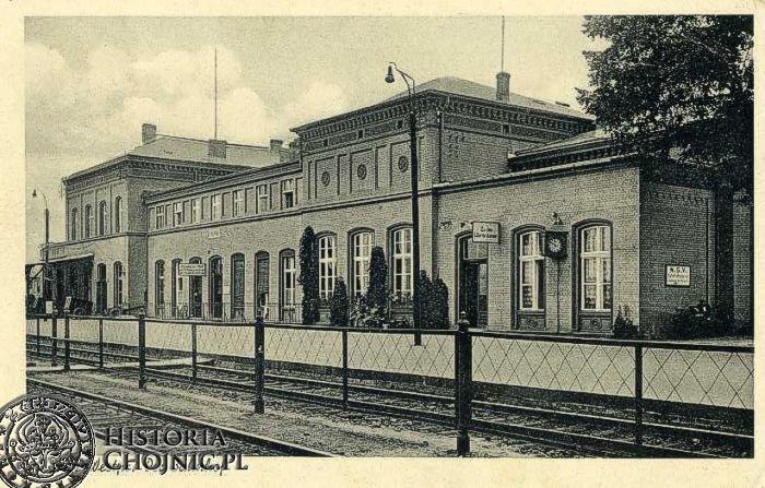 Budynek dworca ok. 1940 r.
