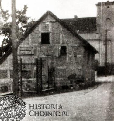 Fragment zabudowy na dawnych Błoniach Zakonnych. W tle widoczny tzw. konwikt.