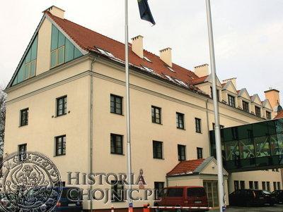 Urząd Gminy w Chojnicach mieści się przy ul. 31 Stycznia 56a.
