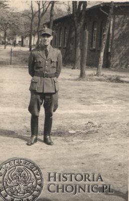 Franciszek Dończyk jako podoficer I BS w Chojnicach.