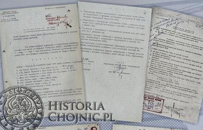Dokumenty wykorzystane na potrzeby publikacji.
