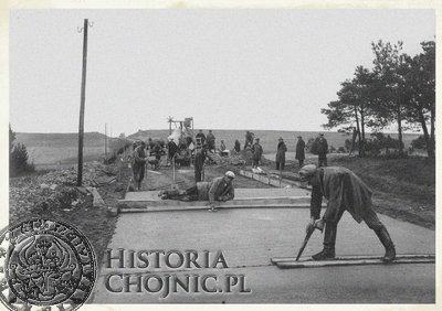 Budowa szosy Swornigacie - Chocimski Młyn. 1934 r.