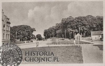 Widok na cmentarz ewangelicki ok. 1942 r.