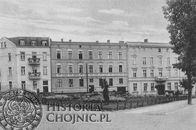 Budynki (obecnie 31 Stycznia) ok. 1944 r., zamieszkałe przez urzędników niemieckiej administracji.