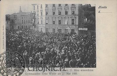 Widokówka z pogrzebu E. Wintera w dn. 27.05.1910 r.
