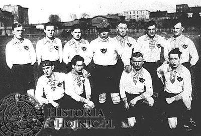 """Piłkarze """"Chojniczanki"""" w 1936 roku."""