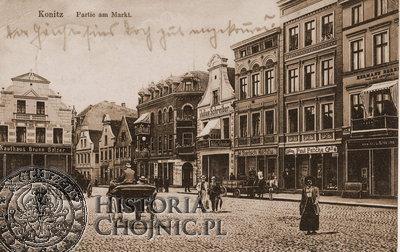 Tak ponad 100 lat prezentował się fragment rynku w Chojnicach.