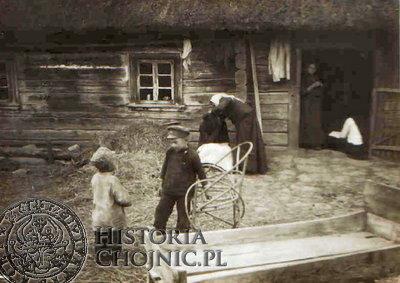 Wiejskie zabudowanie na Pomorzu pod koniec XIX w.