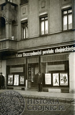 Budynek P.K.K.O. w okresie międzywojennym. W 1938 r. przebudowano secesyjną fasadę domu w nowym modernistycznym stylu.