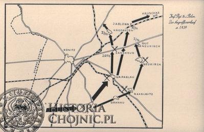 Kierunki natarcia niemieckiego w Rejonie Chojnic w 1939 r.