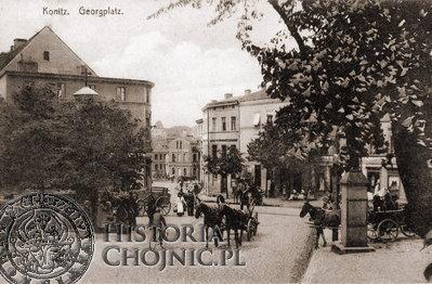 Widok na pl. św. Jerzego w Chojnicach.