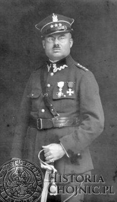 Jan Paweł Łukowicz w mundurze kapitana.