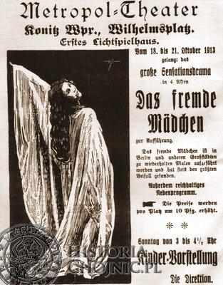 Reklama Metropol Theater z Konitzer Tageblatt z 1913 r.