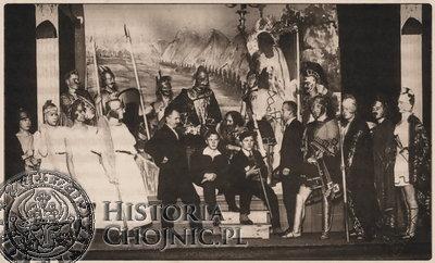 Teatr Gimnazjum Klasycznego w Chojnicach. 1929 r. fot. A. Góralski